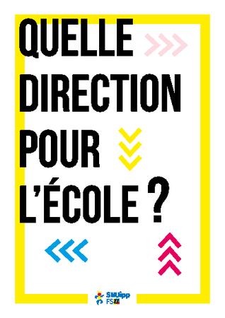Quelle direction pour l'école?